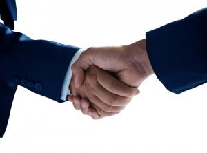 a handshake between first responder unions